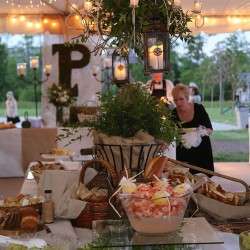 Fall Rustic Reception Food Tables