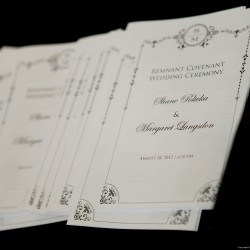 Polivka/Langsdon Wedding - Wedding Program