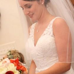 Gadke Wedding - Bride with Bouquet