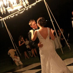 First Dance Under Chandelier