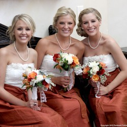 Fall Bridesmaid Dresses | Lace and Burnt Orange