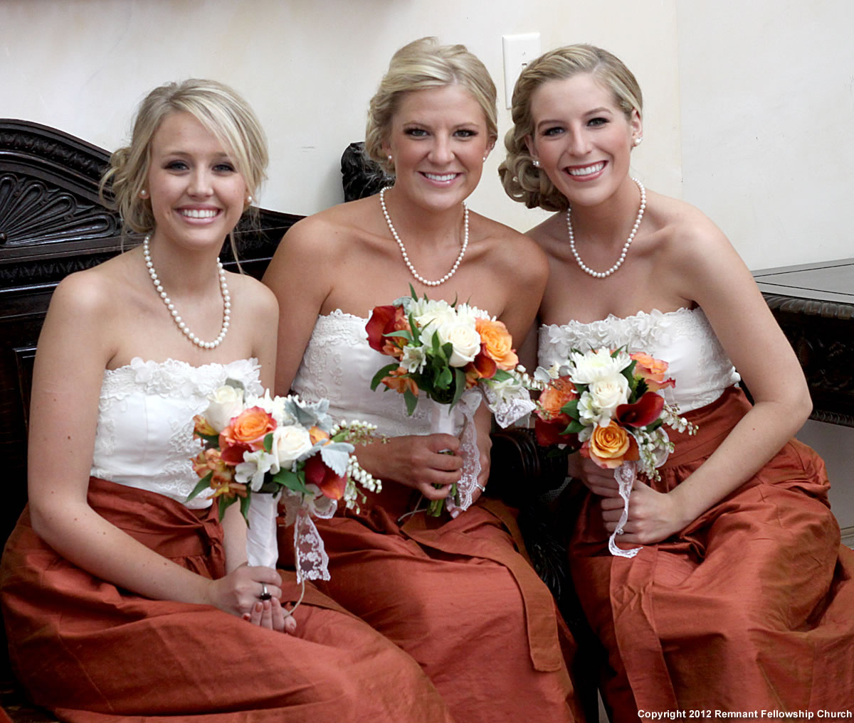 Orange remnant fellowship weddings fall bridesmaid dresses lace and burnt orange gadkemchaney covenant wedding ombrellifo Images
