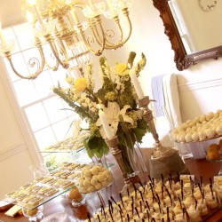 Summer Wedding Bridal Shower Dessert Table Decoration | Shortbread, Wedding Cookies, Truffles