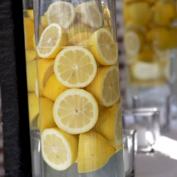 Summer Wedding table Centerpiece | Floating Lemon