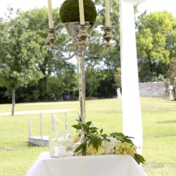 Summer Wedding Table Decoration | Tall White Candelabra