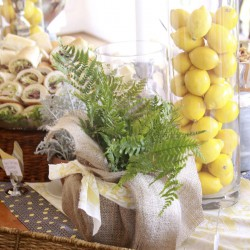 Summer Wedding Food Table Decorations | Lemon
