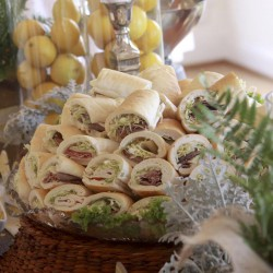 Summer Wedding Reception Food | Wraps