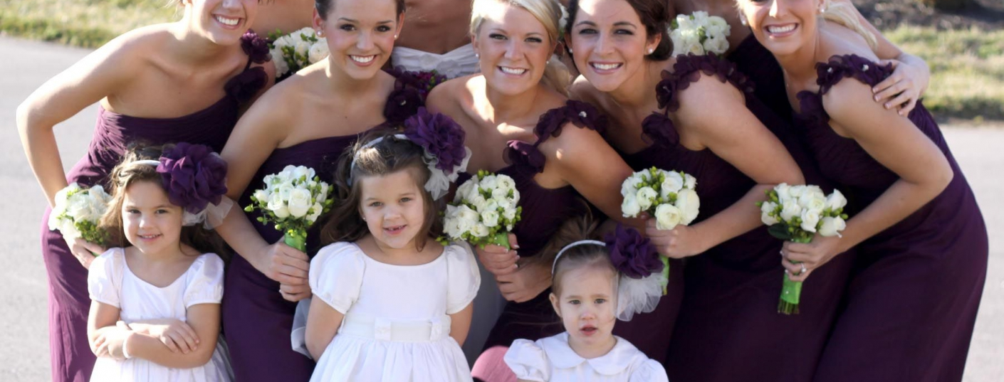 b649d16ae0 Polivka Leaman Wedding - Bride with Bridesmaids and Flower Girls