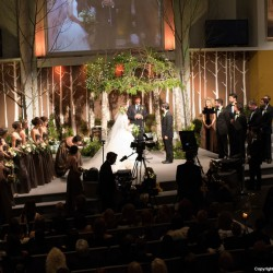 Fall Woodland Wedding Chuppah Decoration | Greenery and Twinkle Lights
