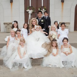 Fall Wedding Color Inspiration | White Tule Flower Girl Dresses