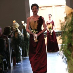 Bridesmaid entering ceremony
