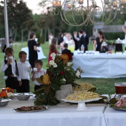 Fall Harvest Wedding Outdoor Reception Food Table