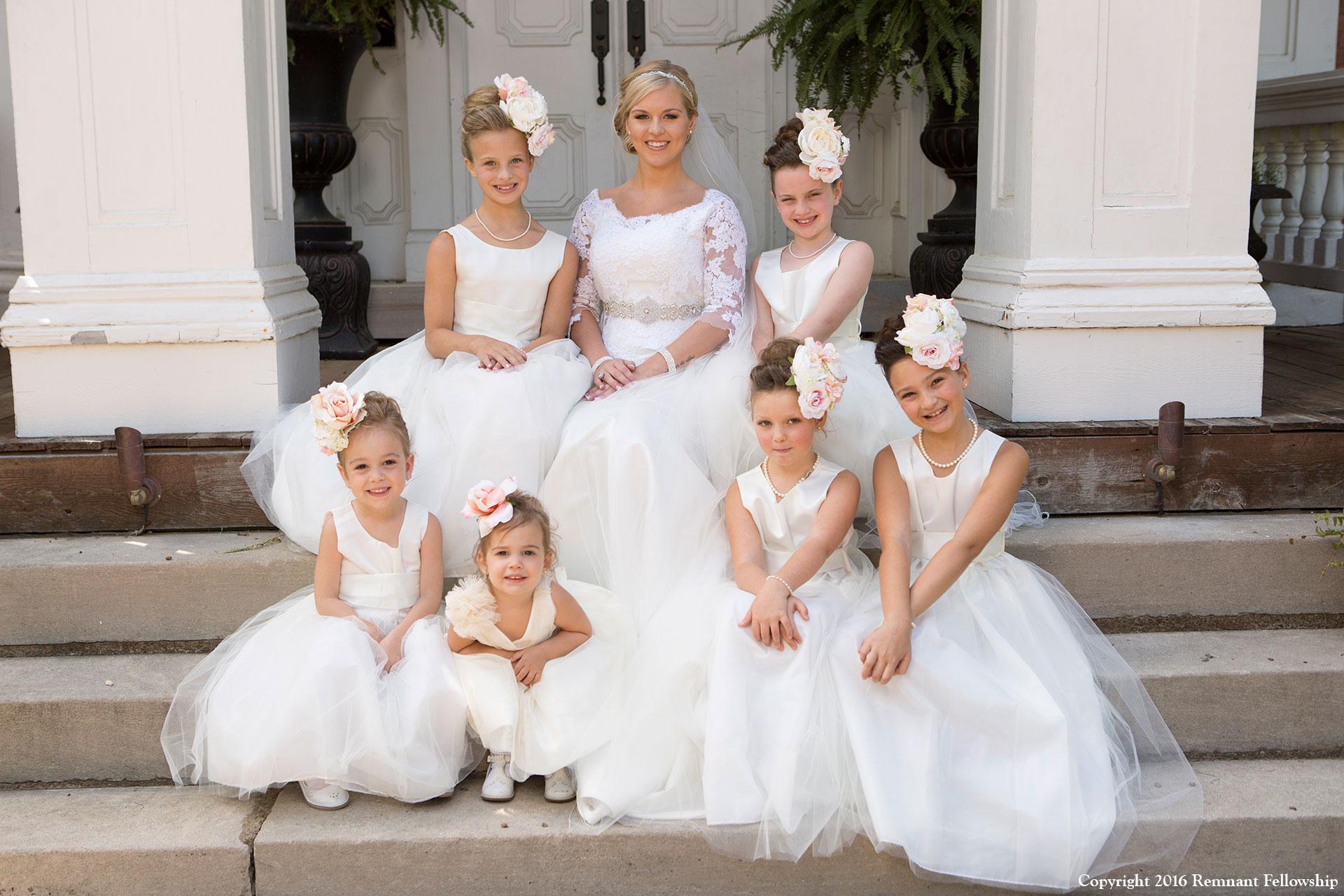 Remnant-Fellowship-Wedding-Peters-Sroda-Bride-Flowergirls