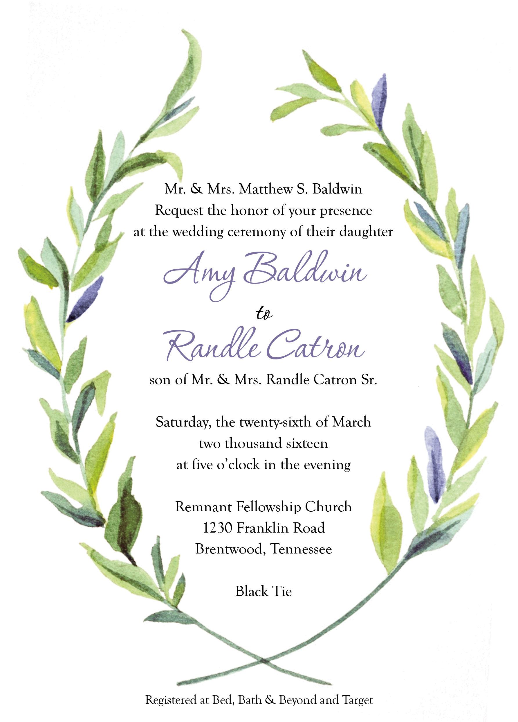 Wedding Invitations Remnant Fellowship Weddings