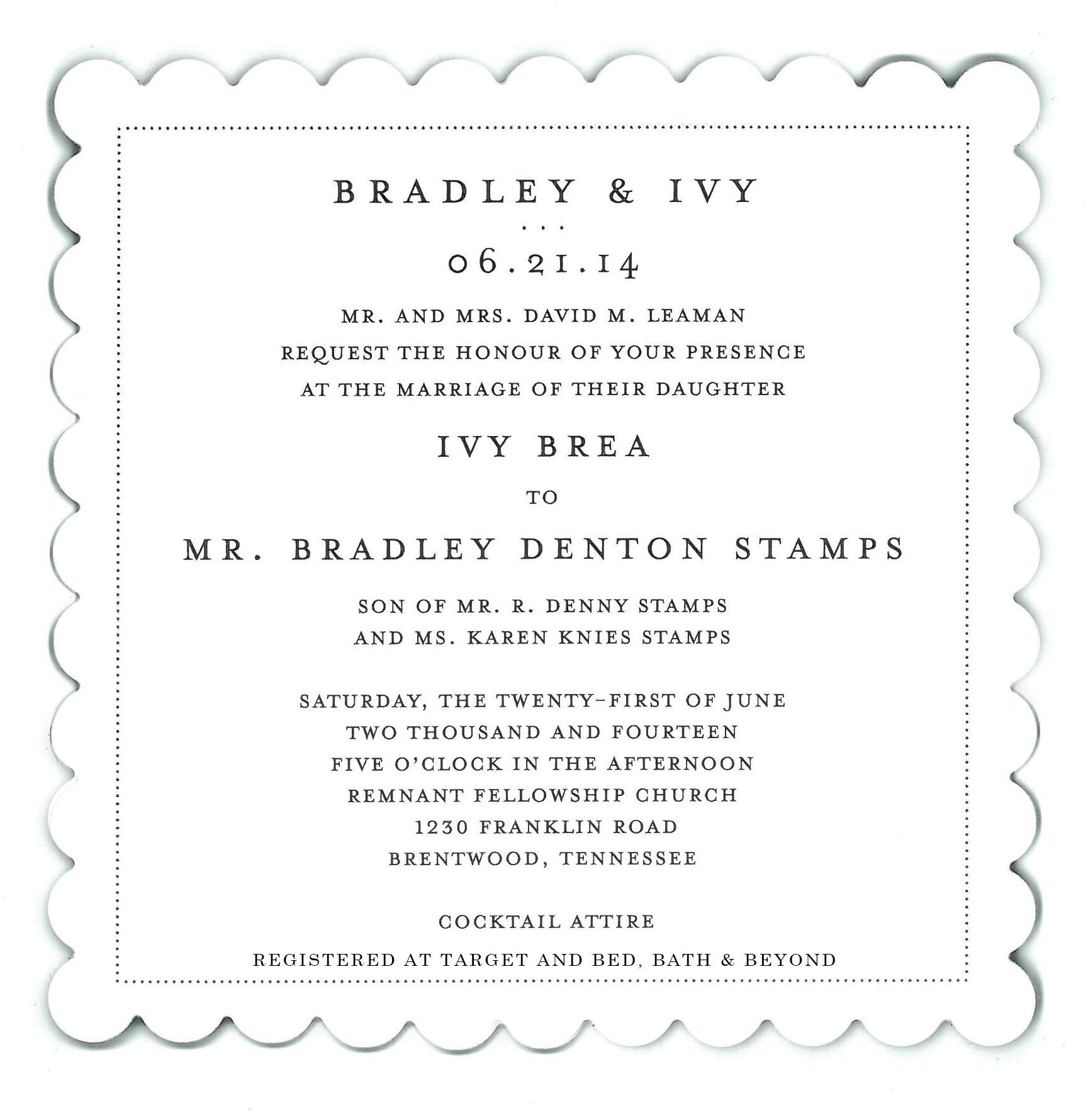 Wedding Invitations - Remnant Fellowship Weddings