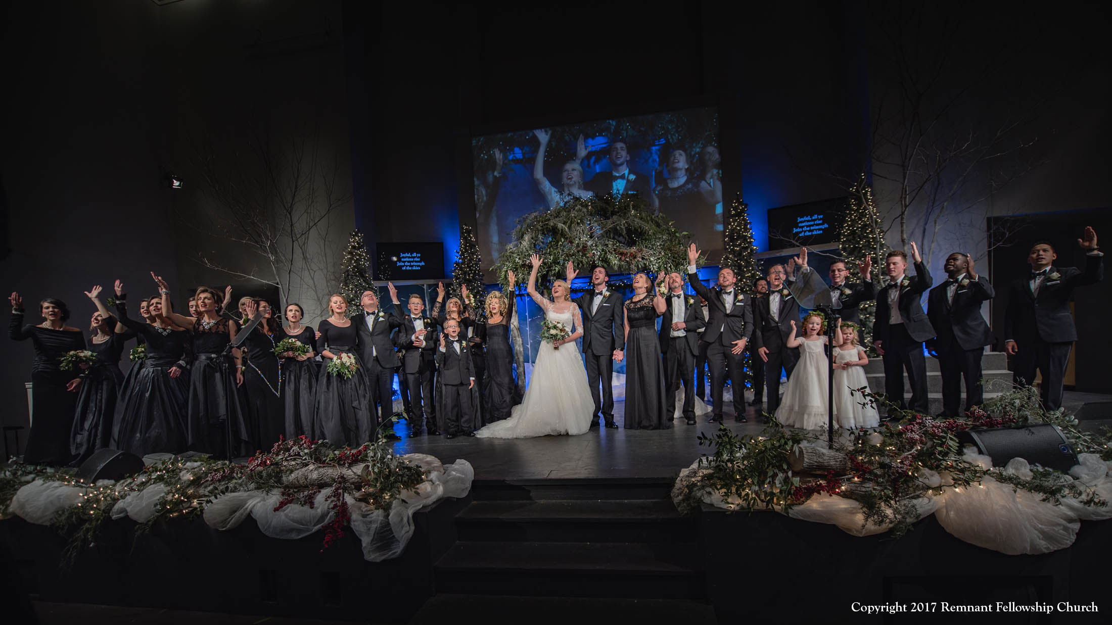 Remnant-Fellowship-Waterson-Rickman-Wedding-Ceremony-Bride-Groom-Wedding-Party-Praising-God
