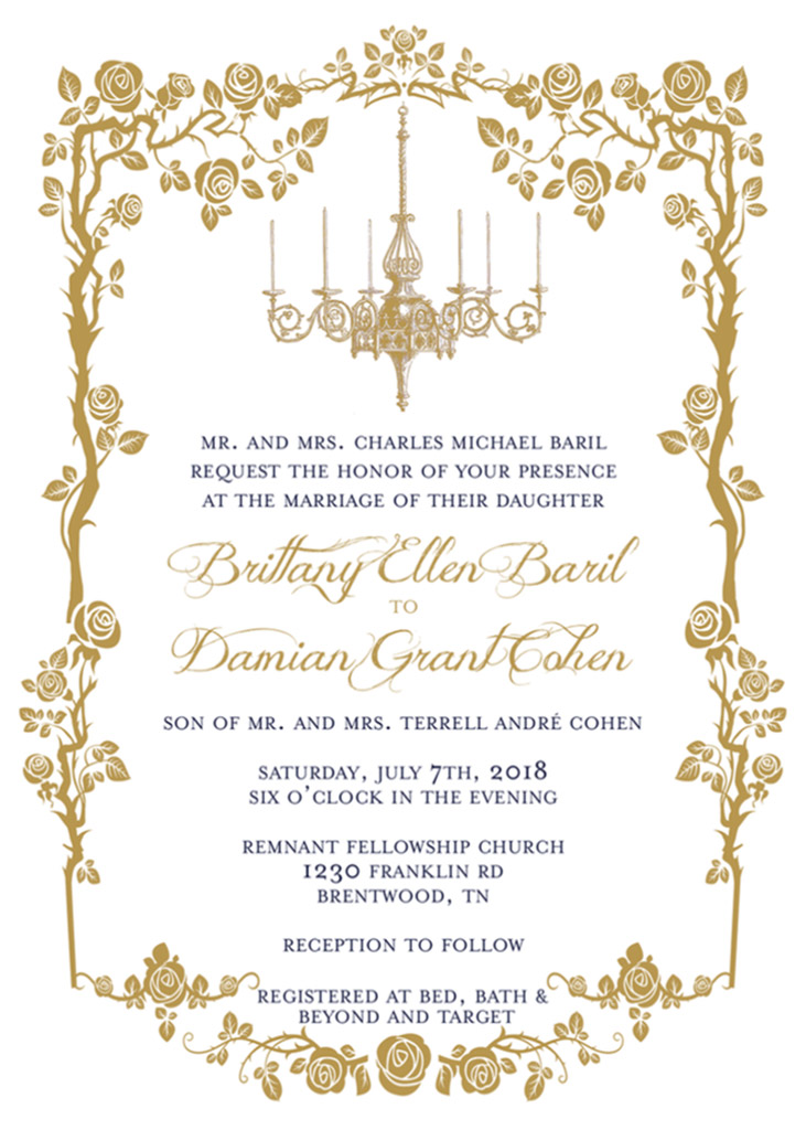 Baril-Cohen Remnant Fellowship Wedding Invitation