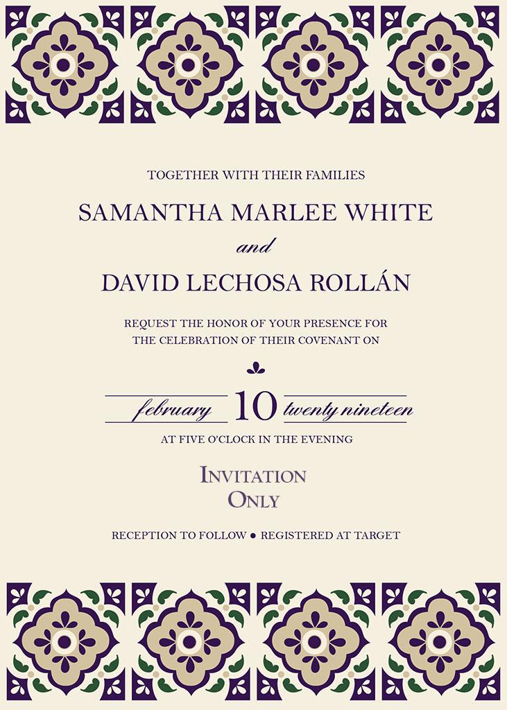 Lechosa-White Remnant Fellowship Wedding Invitation