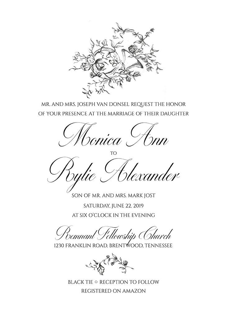 Jost-VanDonsel Remnant Fellowship Wedding Invitation