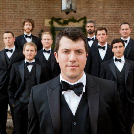 Fall Formal Groomsmen Wedding Black Tux