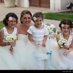 Ruberto Wedding - Bride and Flower Girls