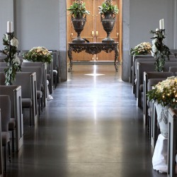 Fall Wedding Candle and Floral Aisle Decorations