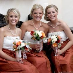 Fall Bridesmaid Dresses   Lace and Burnt Orange