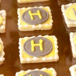 Summer Wedding Dessert Favor | Shortbread Cookie with Couples Monogram