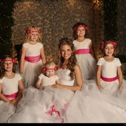 Homonnay Wedding - Bride with Flower Girls