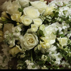 Spring White Bridal Bouquet