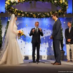 Summer Wedding Chuppah | Hanging Floral Halo