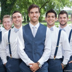 Brad Stamps and his groomsmen at Remnant Fellowship