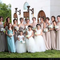 Ruberto Wedding - Bride with Bridesmaids and Flower Girls