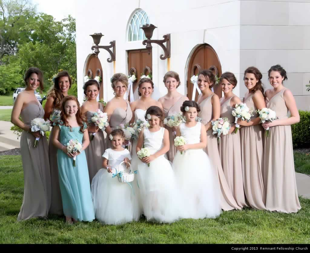 Ruberto Wedding - Bride with Bridesmaids and Flower Girls