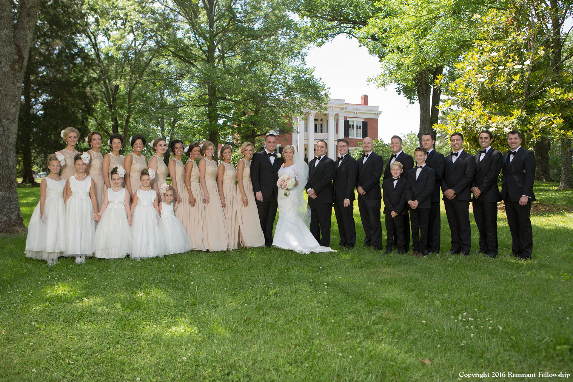Picture of the Peters Sroda wedding party