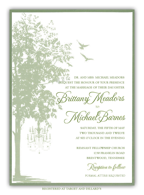 Barnes Meadors Wedding Invitation