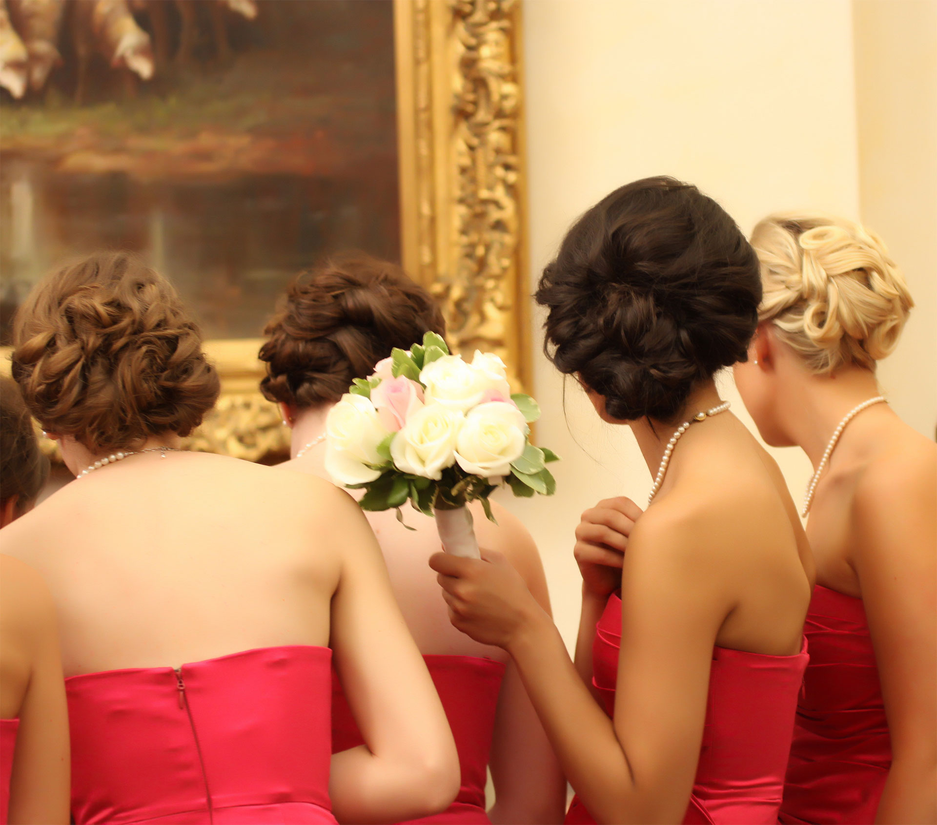 Bridesmaid Side Chignon Hairstyle