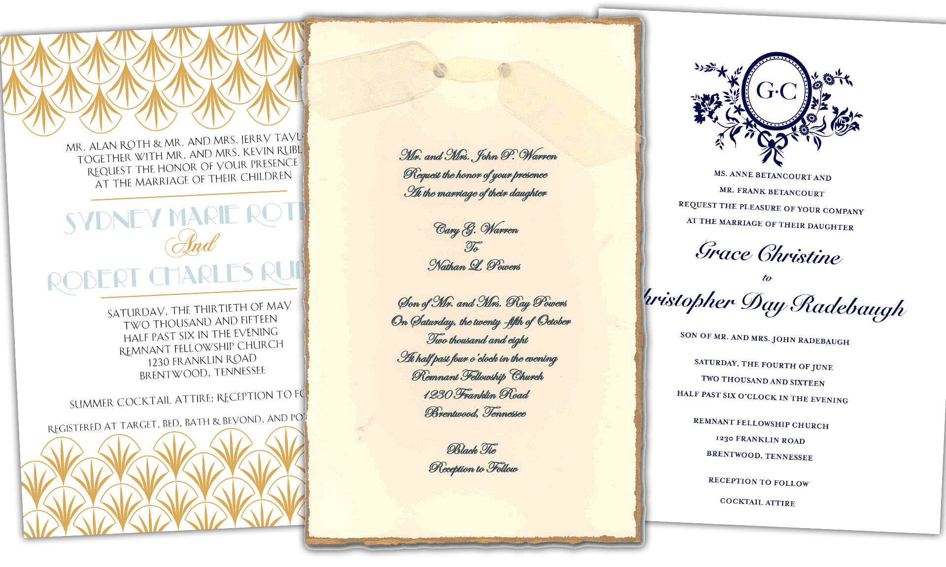 Remnant Fellowship Wedding Invitations