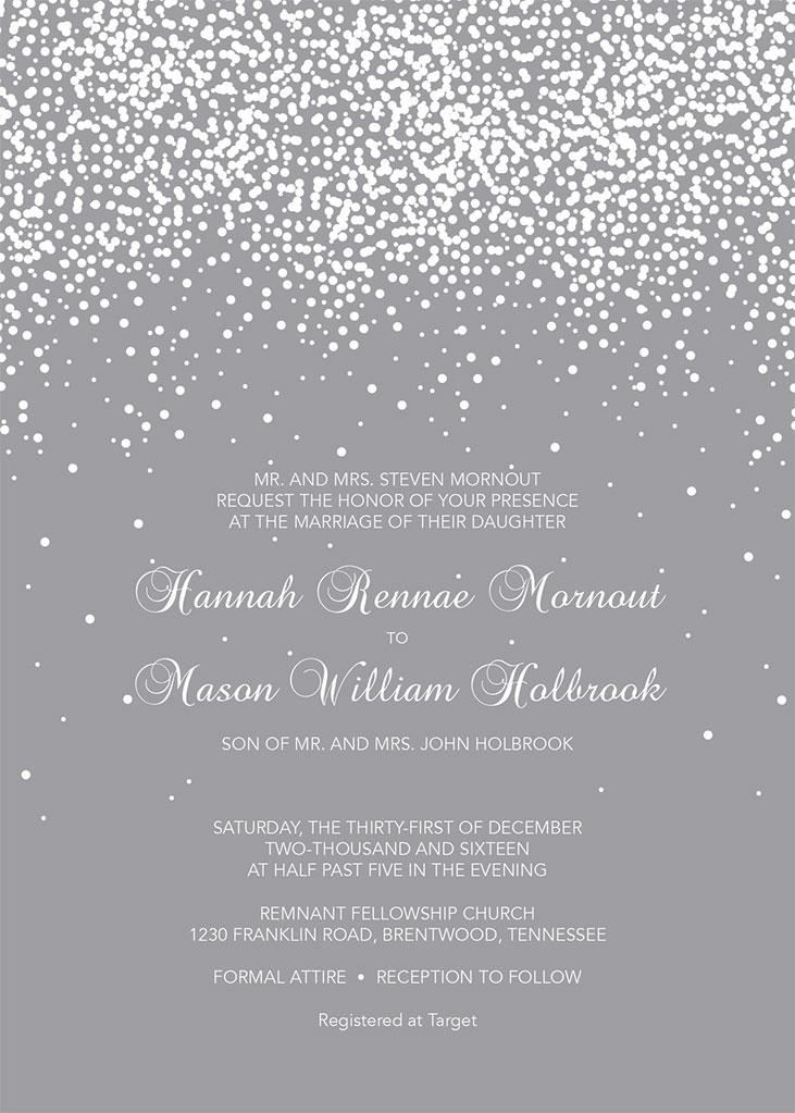 Hannah Mornout and Mason Holbrook Wedding Invitation