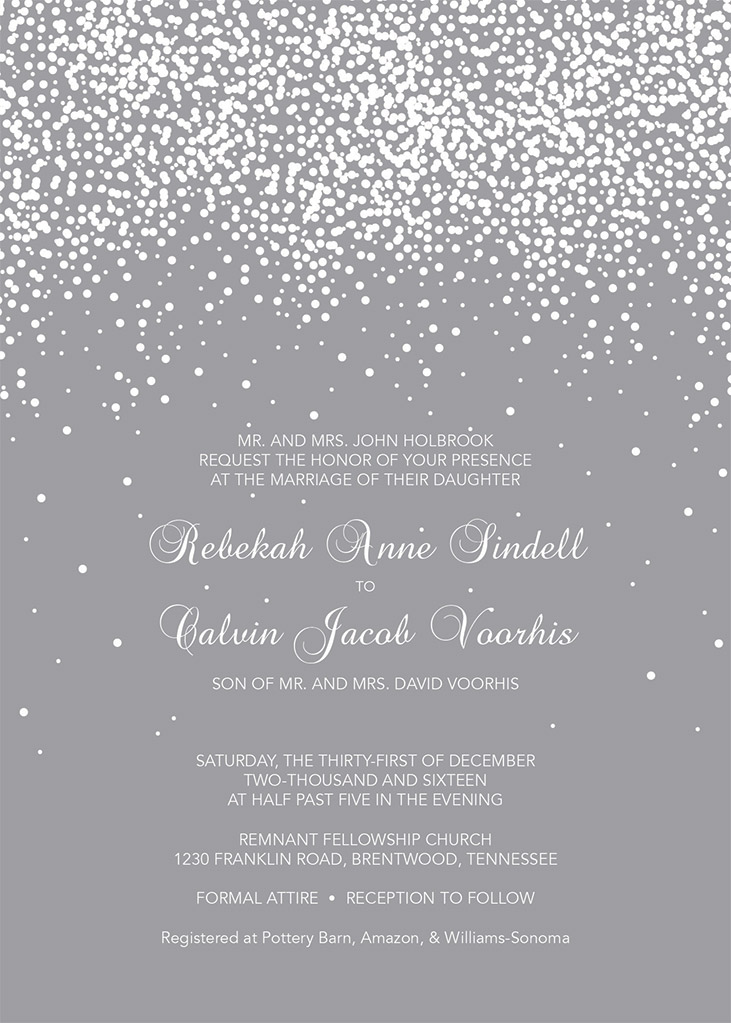 Becki Sindell and Calvin Voorhis Wedding Invitation