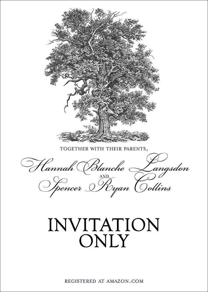 Langsdon-Collins Remnant Fellowship Wedding Invitation