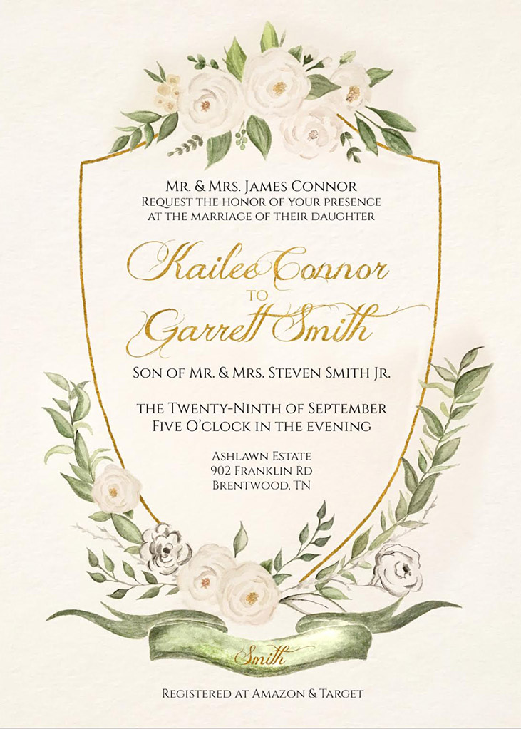 Connor-Smith Remnant Fellowship Wedding Invitation