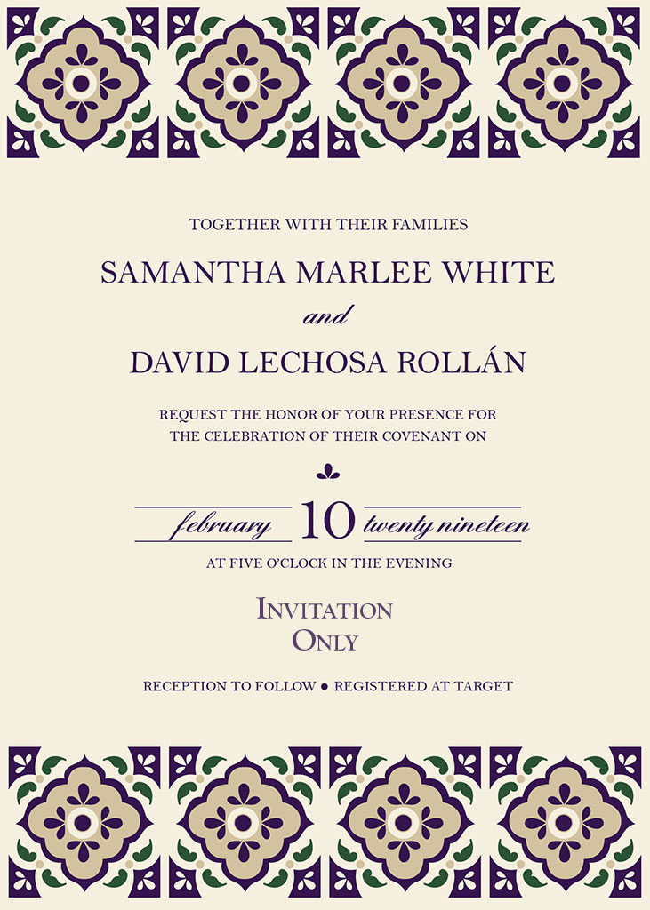 Lechosa-White Remnant Fellowship Wedding Invitation
