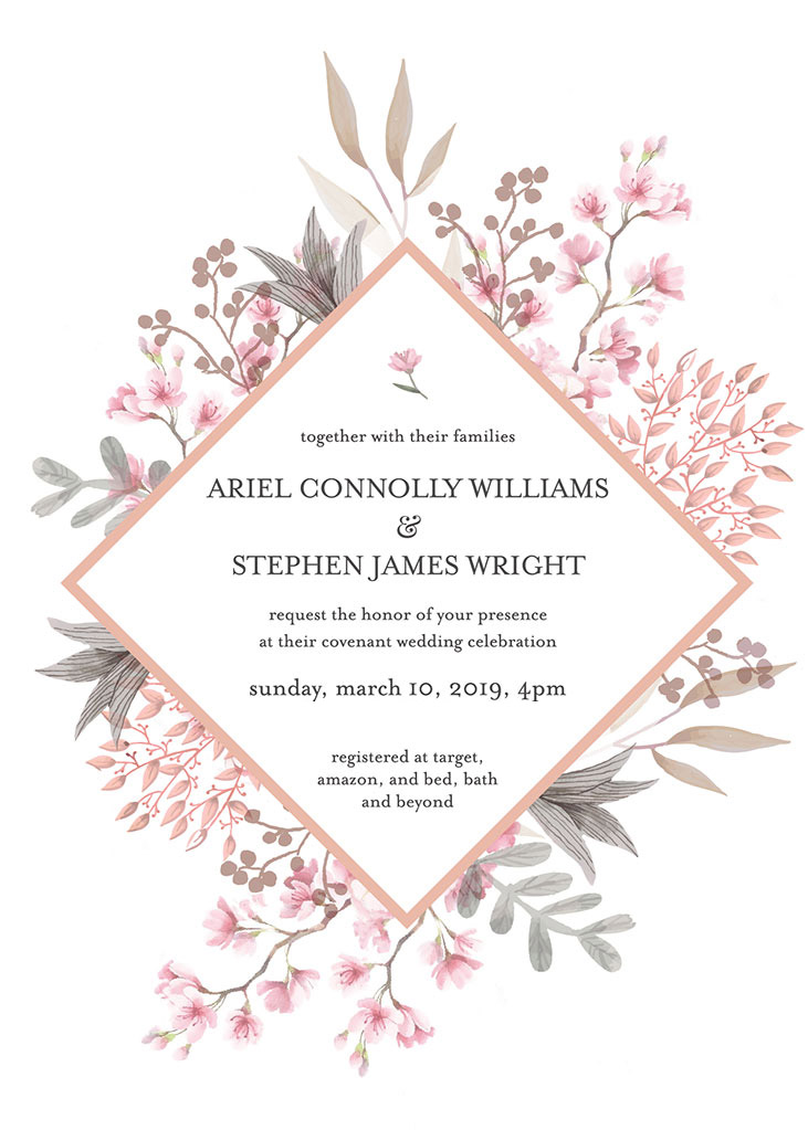 Williams-Wright Remnant Fellowship Wedding Invitation