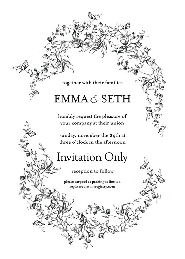 Jackson-Colwell Remnant Fellowship Wedding Invitation