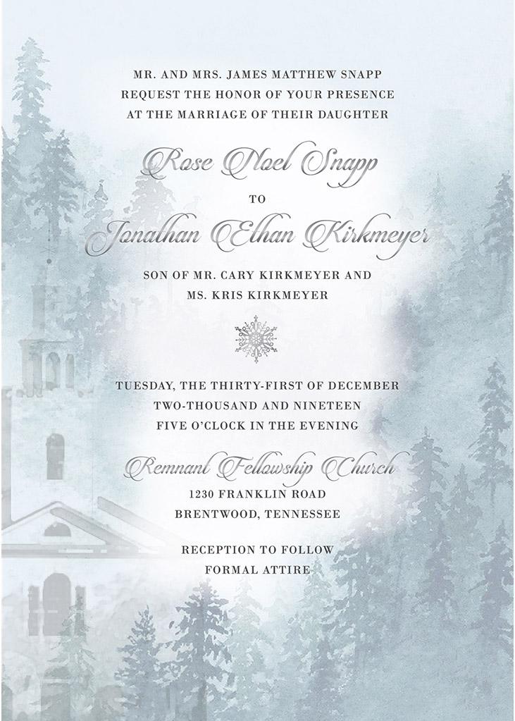 Kirkmeyer-Snapp Remnant Fellowship Wedding Invitation