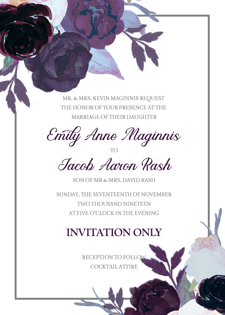 Maginnis-Rash Remnant Fellowship Wedding Invitation