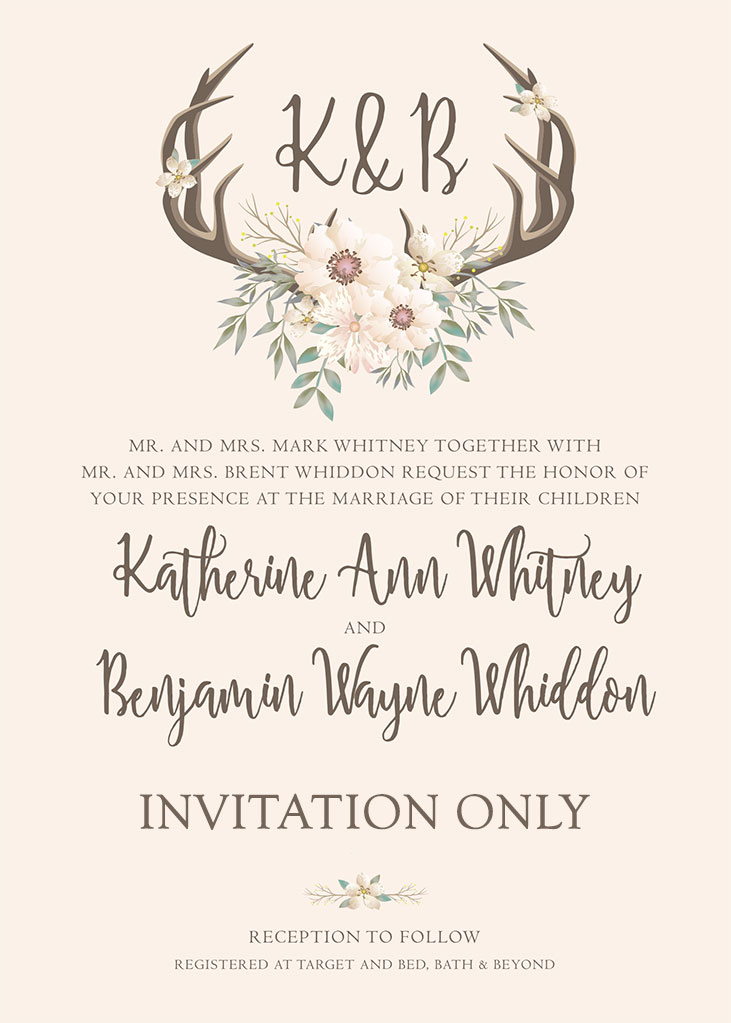Whitney-Whiddon Remnant Fellowship Wedding Invitation