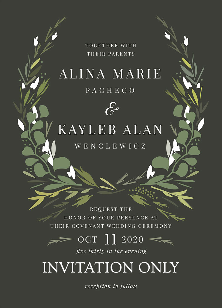 Pacheco-Wenclewicz Remnant Fellowship Wedding Invitation