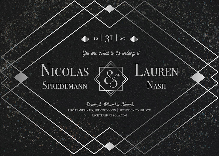 Nash-Spredemann Remnant Fellowship Wedding Invitation